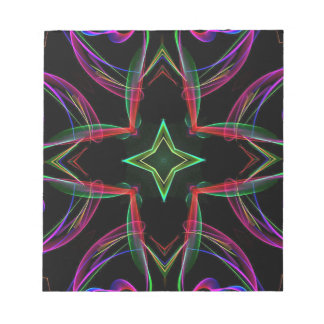 Cool Funky Neon Red Green Purple Abstract Notepad