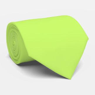 Cool Funky Plain Light Green Mens Silky Neck Tie