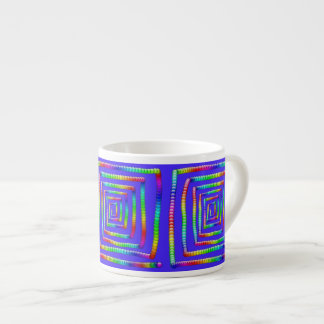 Cool Funky Rainbow Maze Rolling Circle Spheres Des 6 Oz Ceramic Espresso Cup