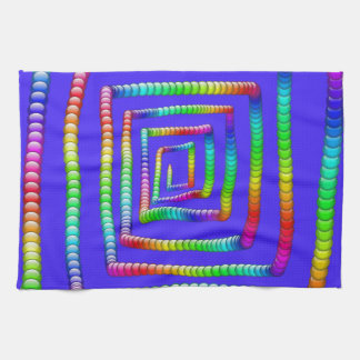 Cool Funky Rainbow Maze Rolling Circle Spheres Des Hand Towel