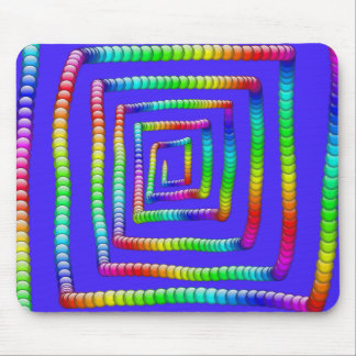 Cool Funky Rainbow Maze Rolling Circle Spheres Des Mouse Pad