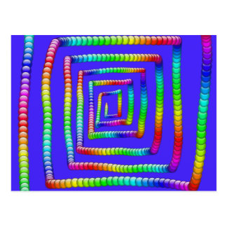 Cool Funky Rainbow Maze Rolling Circle Spheres Des Postcard