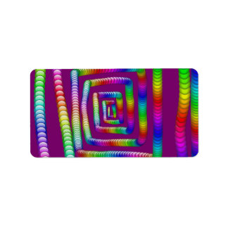 Cool Funky Rainbow Maze Rolling Marbles Design Address Label