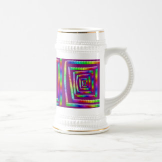 Cool Funky Rainbow Maze Rolling Marbles Design Beer Stein