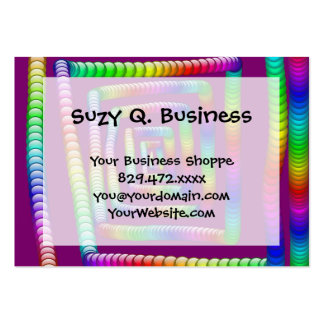 Cool Funky Rainbow Maze Rolling Marbles Design Large Business Cards (Pack Of 100)