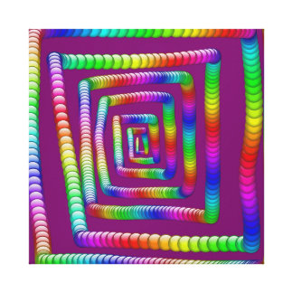 Cool Funky Rainbow Maze Rolling Marbles Design Canvas Print