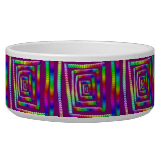 Cool Funky Rainbow Maze Rolling Marbles Design Dog Bowl