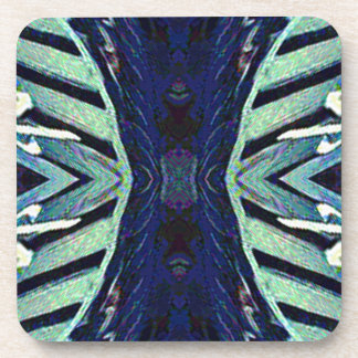 Cool Funky Shades of Blue Abstract Design Drink Coaster