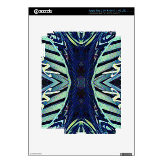 Cool Funky Shades of Blue Abstract Design Skins For iPad 3