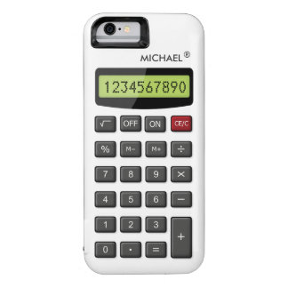 Cool Funny Calculator Pattern with Custom Text iPhone 6 Case