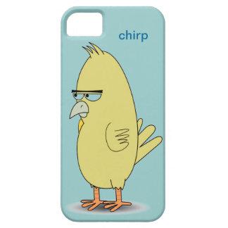 Cool Funny Cartoon Yellow Bird Optional Word Chirp iPhone SE/5/5s Case
