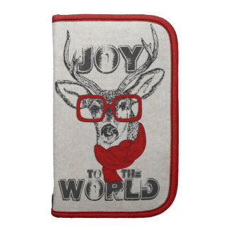 """Cool funny deer sketch """"Joy to the World"""" quote Planners"""