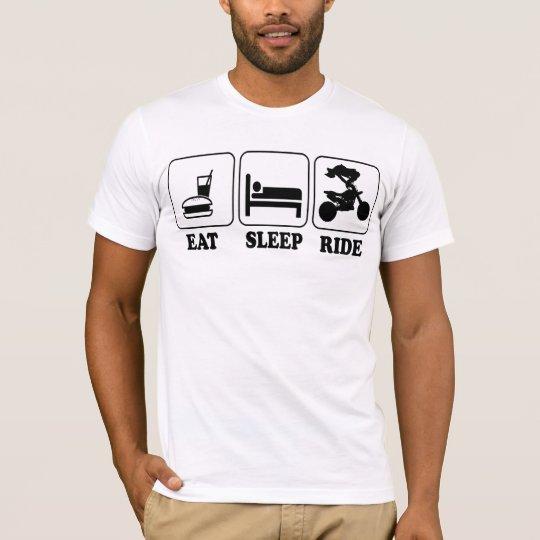 Cool Funny Eat, Sleep, Ride Motocross Custom Art T-Shirt