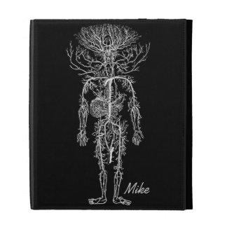 Cool Funny Geek Man's Circulatory System Custom iPad Folio Case