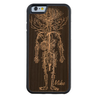 Cool Funny Geek Man's Circulatory System Custom Carved® Cherry iPhone 6 Bumper