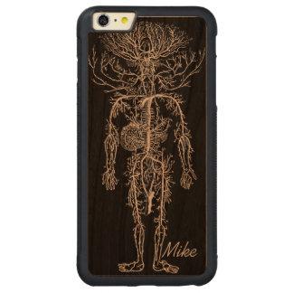 Cool Funny Geek Man's Circulatory System Custom Carved® Cherry iPhone 6 Plus Bumper