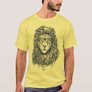 Cool Funny Hipster Lion Men's T-Shirt