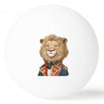 cool funny leo face lion animal apparel print desi ping pong ball