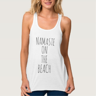 Cool Funny Namaste On The Beach Trendy Tank Top at Zazzle