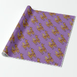 Cool Funny Sloth Riding Llama Wrapping Paper
