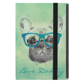 Cool  funny trendy vintage French bulldog  puppy Cover For iPad Mini