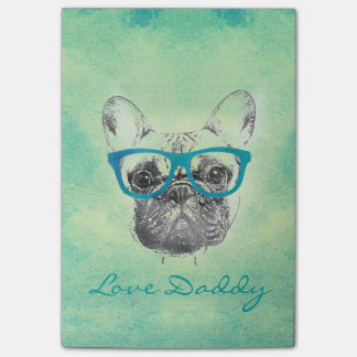 Cool  funny trendy vintage French bulldog  puppy Post-it® Notes
