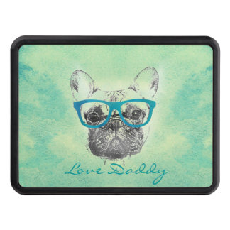 Cool  funny trendy vintage French bulldog  puppy Trailer Hitch Cover