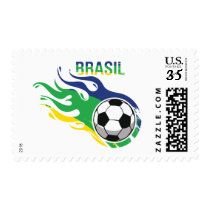 Cool Futebol Brasil - Brazil Soccer Postage