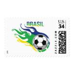 Cool Futebol Brasil - Brazil Soccer Postage Stamps