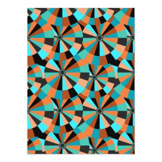 Cool Futurist Circles in Orange and Aqua Card