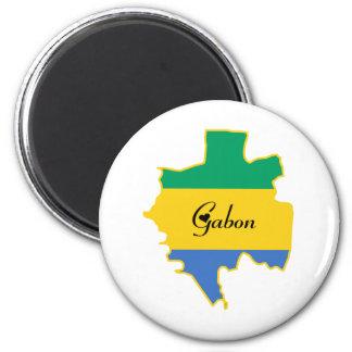 Cool Gabon 2 Inch Round Magnet