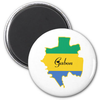 Cool Gabon Refrigerator Magnet
