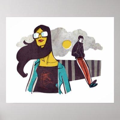 cool gal  cool guy  cool print