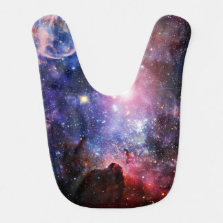 Cool galaxy nebula bib