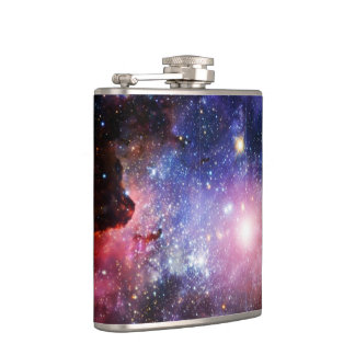 Cool galaxy nebula hip flask