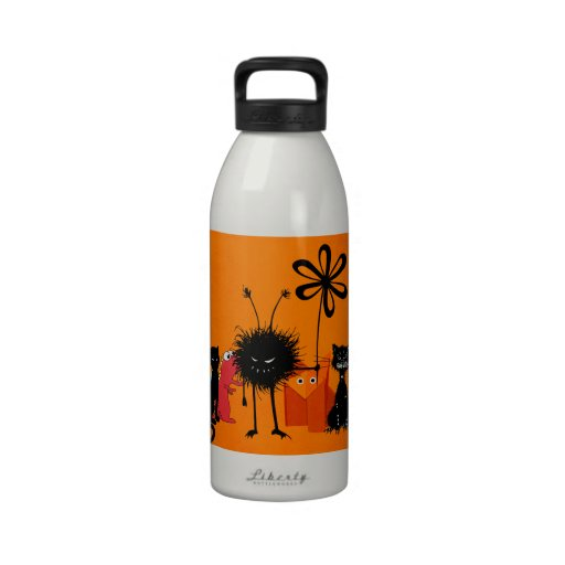 Cool Gang Of Cartoon Characters Reusable Water Bottle
