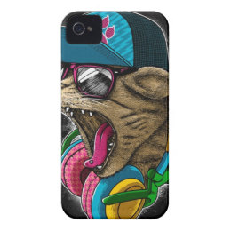 cool gangster rapping cat. iPhone 4 cover