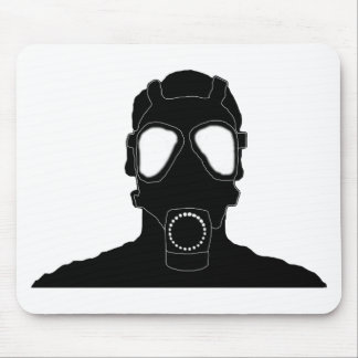cool gas mask mouse pad