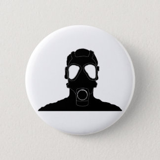 cool gas mask pinback button