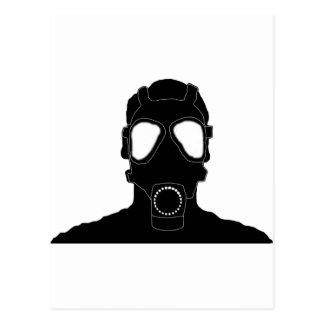 cool gas mask postcard