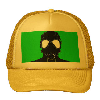cool gas mask trucker hat