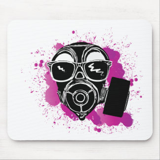 Cool gasmask mouse pad