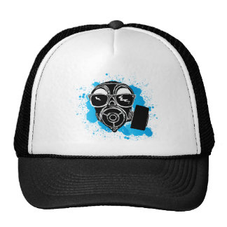 Cool gasmask trucker hat