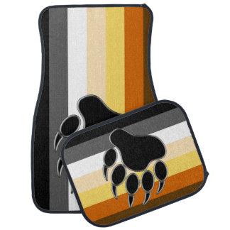 Cool Gay Bear Pride Flag Bear Paw Car Mat