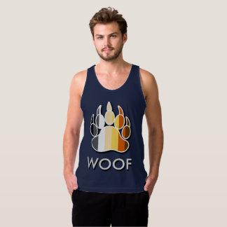 Cool Gay Bear Pride Flag Bear Paw WOOF Tank Top