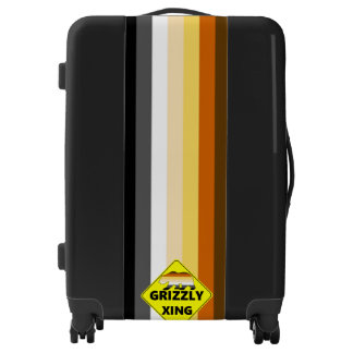 Cool Gay Bears Pride Flag Grizzly Xing Luggage