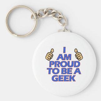 cool geek designs basic round button keychain