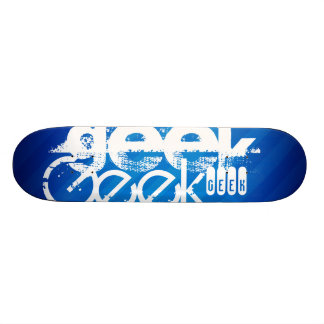 Cool Geek; Royal Blue Stripes Skateboard Deck