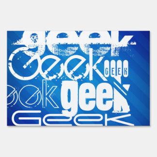 Cool Geek; Royal Blue Stripes Sign