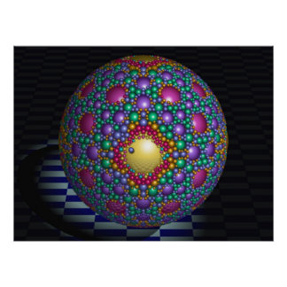 Cool geometric 3-d poster Bubble Ball
